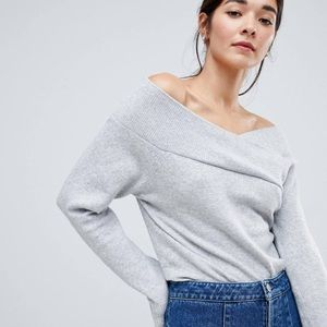 ASOS off shoulder sweater